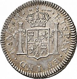 Large Reverse for 1/2 Real 1809 coin