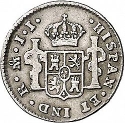Large Reverse for 1/2 Real 1812 coin