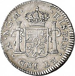 Large Reverse for 1/2 Real 1813 coin