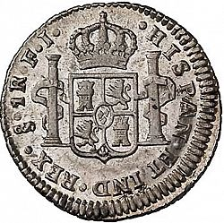 Large Reverse for 1/2 Real 1815 coin