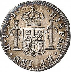 Large Reverse for 1/2 Real 1817 coin