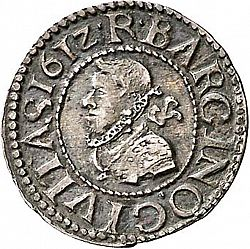 Large Obverse for 1/2 Croat 1612 coin