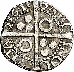 Large Reverse for 1/2 Croat 1611 coin