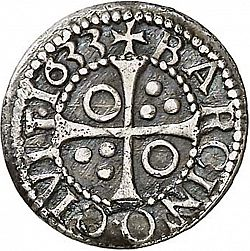 Large Reverse for 1/2 Croat 1633 coin
