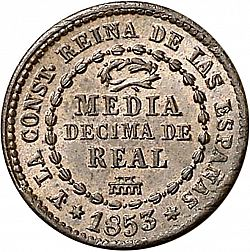 Large Reverse for 1/2 Decimal 1853 coin