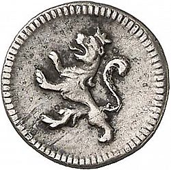 Large Reverse for 1/4 Real 1797 coin