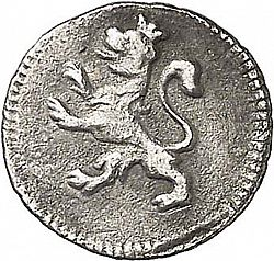 Large Reverse for 1/4 Real 1799 coin