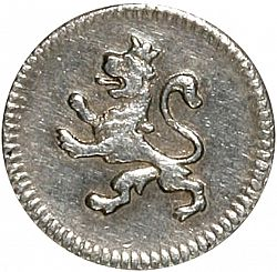 Large Reverse for 1/4 Real 1809 coin