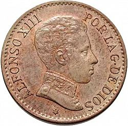 Large Obverse for 1 Céntimo 1906 coin