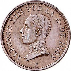 Large Obverse for 1 Céntimo 1911 coin