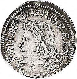 Large Obverse for 1 Croat 1705 coin