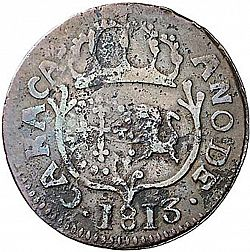 Large Obverse for 1 Quarto 1813 coin