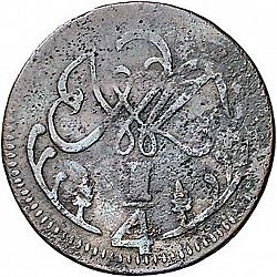 Large Reverse for 1 Quarto 1813 coin