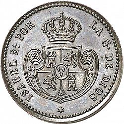 Large Obverse for 1 Décima Real 1853 coin