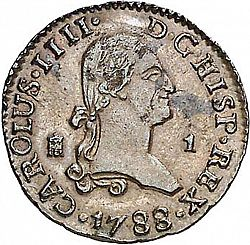 Large Obverse for 1 Maravedí 1788 coin