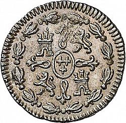 Large Reverse for 1 Maravedí 1788 coin