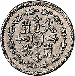 Large Reverse for 1 Maravedí 1802 coin