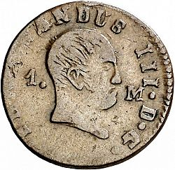 Large Obverse for 1 Maravedí 1831 coin