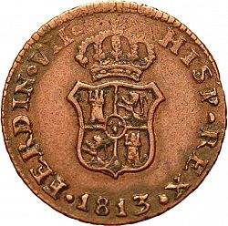 Large Obverse for 1 Ochavo 1813 coin