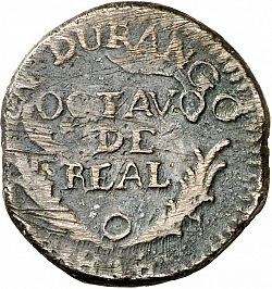 Large Reverse for 1 Octavo 1816 coin