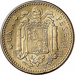 Large Reverse for 1 Peseta 1953 coin