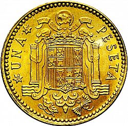 Large Reverse for 1 Peseta 1963 coin