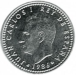 Large Obverse for 1 Peseta 1986 coin
