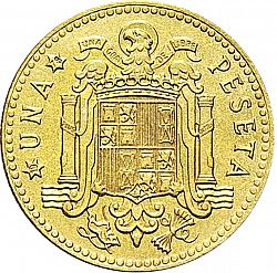 Large Reverse for 1 Peseta 1975 coin
