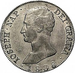 Large Obverse for 20 Reales 1808 coin