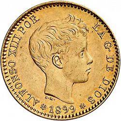 Large Obverse for 20 Pesetas 1899 coin