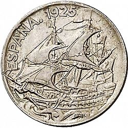 Large Obverse for 25 Céntimos 1925 coin