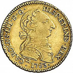 Large Obverse for 2 Escudos 1763 coin