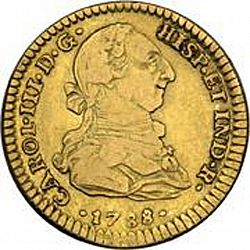 Large Obverse for 2 Escudos 1788 coin