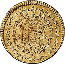 Large Reverse for 2 Escudos 1785 coin