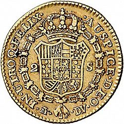 Large Reverse for 2 Escudos 1786 coin