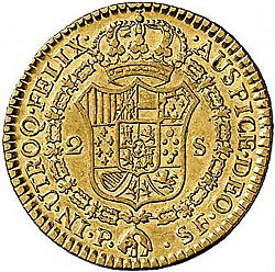 Large Reverse for 2 Escudos 1787 coin
