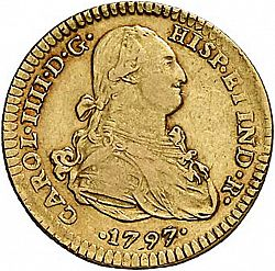 Large Obverse for 2 Escudos 1797 coin
