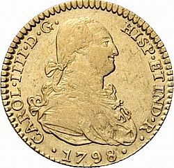 Large Obverse for 2 Escudos 1798 coin