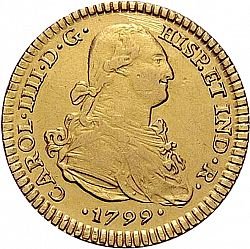Large Obverse for 2 Escudos 1799 coin