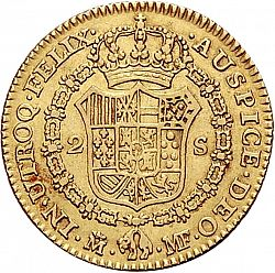 Large Reverse for 2 Escudos 1788 coin