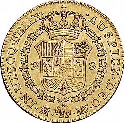 Large Reverse for 2 Escudos 1789 coin