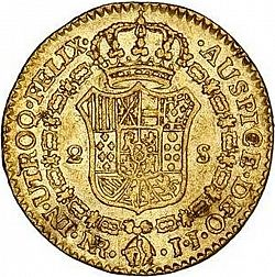 Large Reverse for 2 Escudos 1791 coin