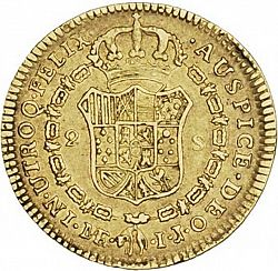 Large Reverse for 2 Escudos 1793 coin