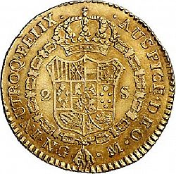 Large Reverse for 2 Escudos 1794 coin