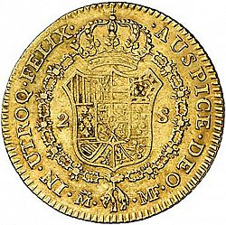 Large Reverse for 2 Escudos 1795 coin