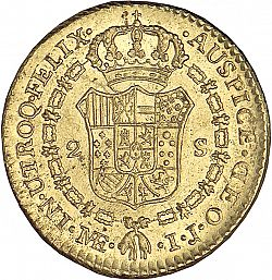 Large Reverse for 2 Escudos 1796 coin