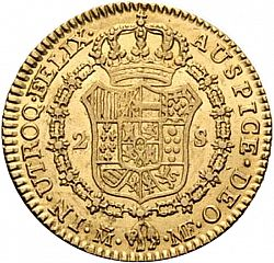 Large Reverse for 2 Escudos 1797 coin