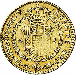 Large Reverse for 2 Escudos 1799 coin