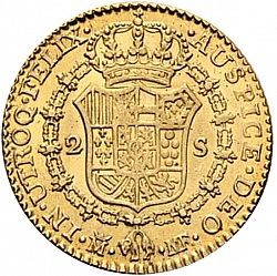 Large Reverse for 2 Escudos 1800 coin