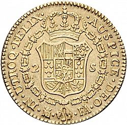 Large Reverse for 2 Escudos 1802 coin